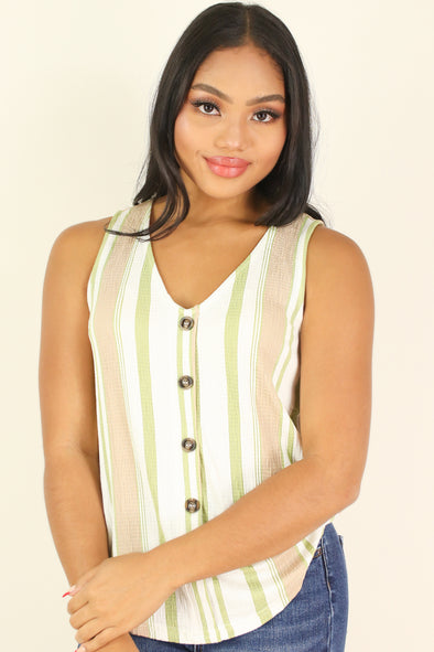 Jeans Warehouse Hawaii - TANK/TUBE STRIPE - KEEPING IT LINE TOP | By E & M