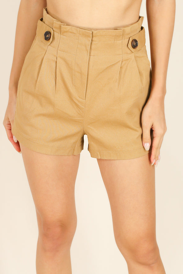 Jeans Warehouse Hawaii - SOLID WOVEN SHORTS - I HOPE SHORTS | By HAVE FASHION INC.
