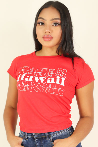 Jeans Warehouse Hawaii - S/S SCREEN - HAWAII SWEETIE TEE | By ROCK & ROSE COUTURE