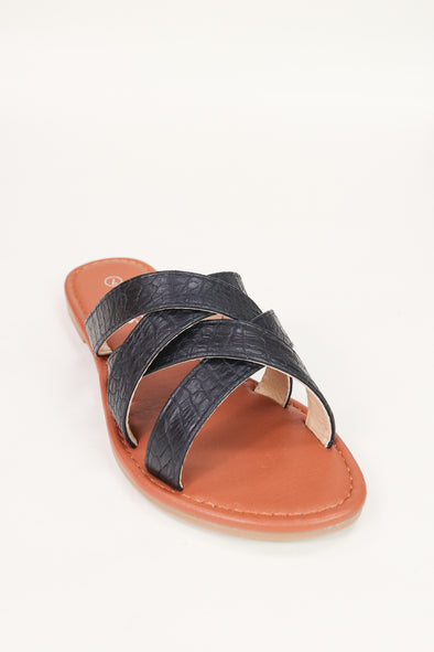 Jeans Warehouse Hawaii - FLATS SLIP ON - AFTER WHILE CROCODILE SANDALS | By WELLS FOUNTAIN INC.