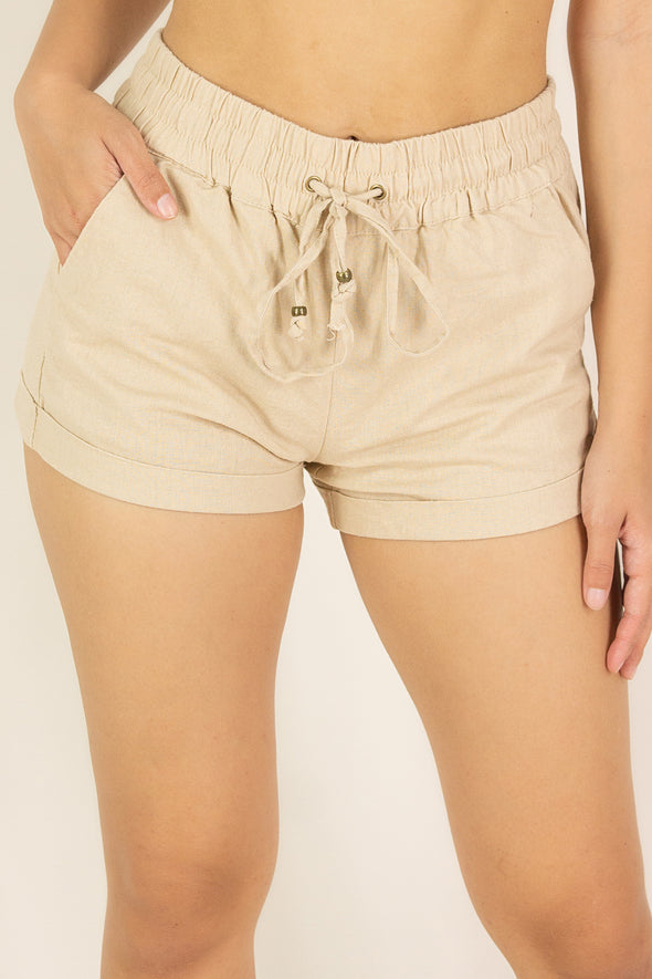 Jeans Warehouse Hawaii - SOLID WOVEN SHORTS - DRIP SPLASH SHORTS | By STYLE MELODY