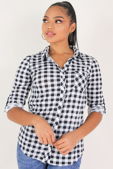 Jeans Warehouse Hawaii - LS PRINT - PLAID GAMES SHIRT | By DNA COUTURE INC