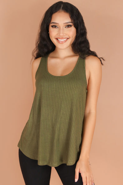 Jeans Warehouse Hawaii - TANK/TUBE SOLID BASIC - MOMENTS TOP | By AMBIANCE APPAREL