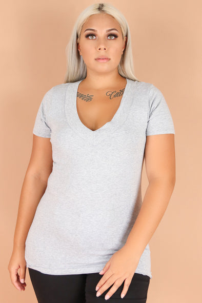 Jeans Warehouse Hawaii - PLUS BASIC V NECK TEES - CATCH YOU LATER TEE | By AMBIANCE APPAREL