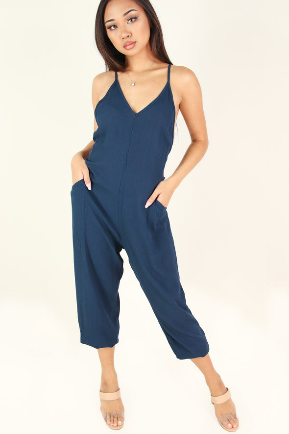 Jeans Warehouse Hawaii - SOLID CASUAL JUMPSUITS - LET ME JUMPSUIT | By DENIM FEVER