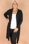 Jeans Warehouse Hawaii - PLUS SOLID LONG SLV CARDIGANS - ALL THE VIBES CARDIGAN | By AMBIANCE APPAREL