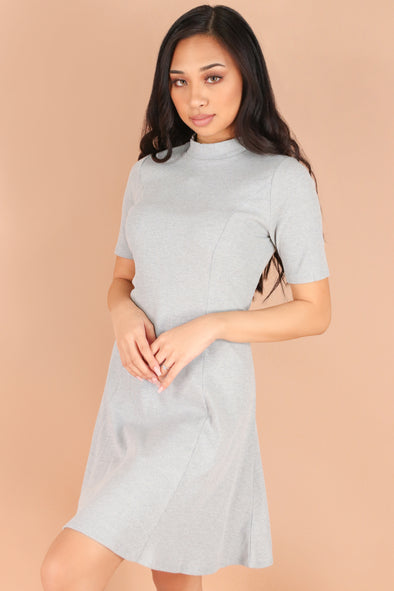 Jeans Warehouse Hawaii - SLEEVE SHORT SOLID DRESSES - SETTLE DOWN DRESS | By ULTIMATE OFFPRICE