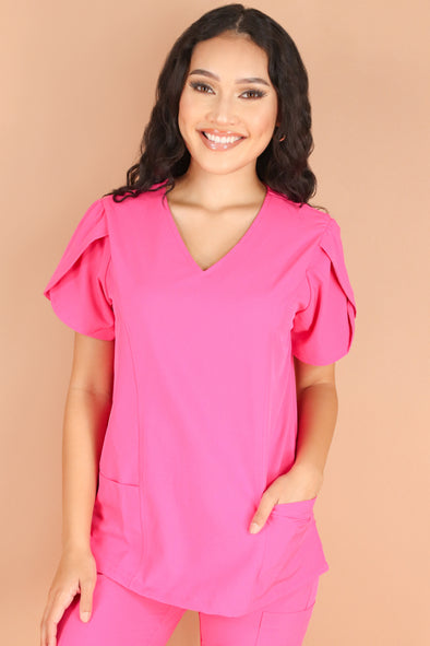 Jeans Warehouse Hawaii - JUNIOR SCRUB TOPS - CHECK UP TIME SCRUB TOP | By MEDGEAR