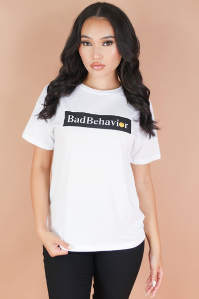 Jeans Warehouse Hawaii - S/S SCREEN - BAD BEHAVIOR TEE | By ROCK & ROSE COUTURE