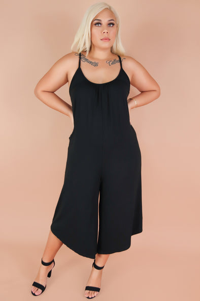 Jeans Warehouse Hawaii - PLUS SOLID JUMPSUITS - SKIP THE LINE JUMPER | By J&G INTERNATIONAL