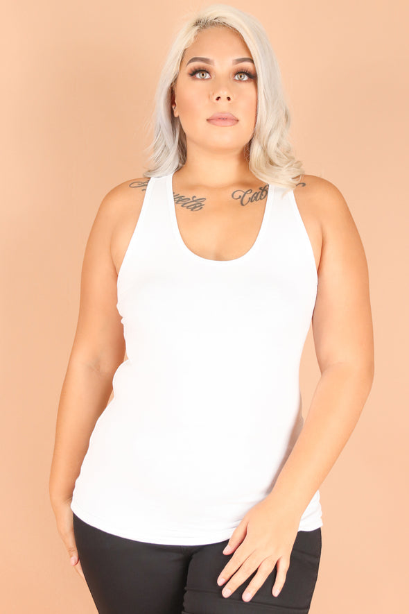 Jeans Warehouse Hawaii - PLUS BASIC RIB TANKS - LAST CALL TANK TOP | By SHINE IMPORTS /BOZZOLO