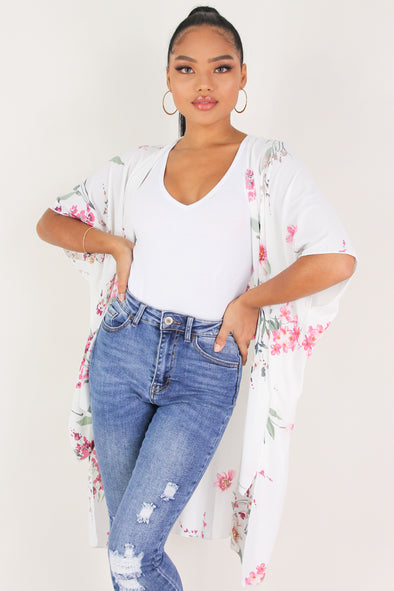 Jeans Warehouse Hawaii - S/S PRINT WOVEN DRESSY TOPS - WANT THIS TO LAST CARDIGAN | By I JOAH
