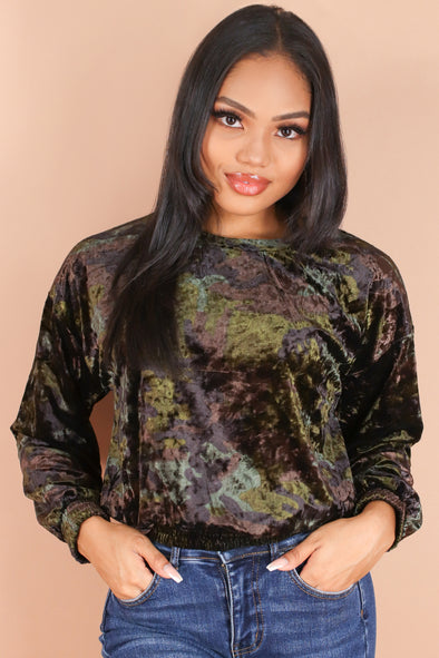 Jeans Warehouse Hawaii - PTTN LONG SLV TOPS - TAKE MY TIME TOP | By ULTIMATE OFFPRICE