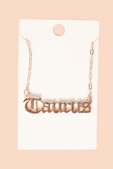 Jeans Warehouse Hawaii - NECKLACE SHORT PENDANT - TAURUS SZN NECKLACE | By JOIA TRADING