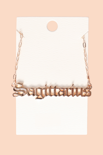 Jeans Warehouse Hawaii - NECKLACE SHORT PENDANT - SAGITTARIUS SZN NECKLACE | By JOIA TRADING
