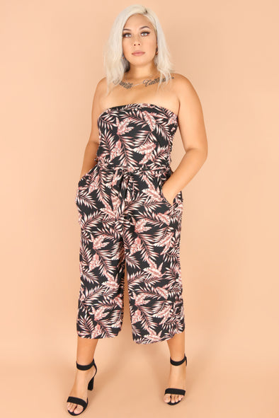 Jeans Warehouse Hawaii - PLUS PRINTED JUMPSUITS - BEACH BAE JUMPSUIT | By LUZ