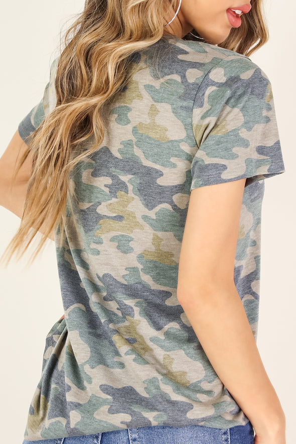Jeans Warehouse Hawaii - SS PRINT - CAMO ESSENTIAL T-SHIRT | By TRESICS