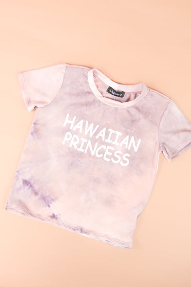 Jeans Warehouse Hawaii - S/S PRINT TOPS 4-6X - HAWAIIAN PRINCESS TEE | 4-6X | By JAYVEE KIDS