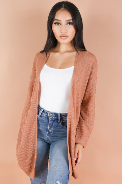Jeans Warehouse Hawaii - SOLID SHT SLV CARDIGANS - COZY ESCAPE CARDIGAN | By BE COOL
