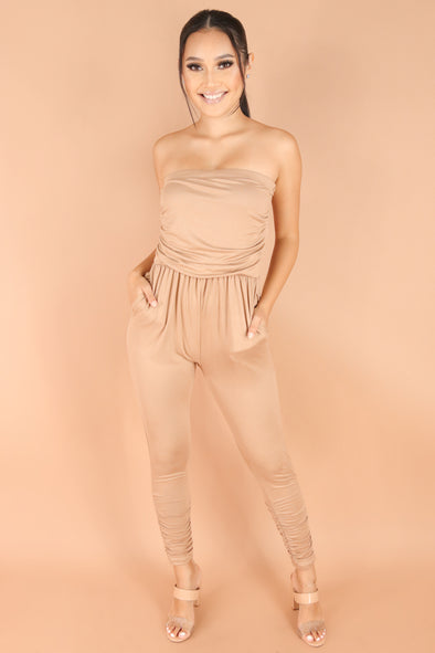 Jeans Warehouse Hawaii - SOLID CASUAL JUMPSUITS - COME THROUGH JUMPSUIT | By LUZ