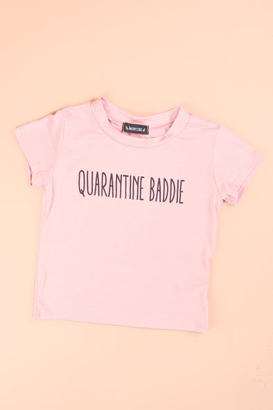 Jeans Warehouse Hawaii - S/S PRINT TOPS 4-6X - QUARANTINE BADDIE TEE | 4-6X | By LUZ