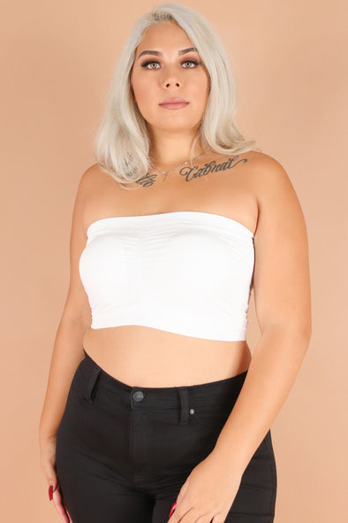 Jeans Warehouse Hawaii - PLUS BASIC BANDEAU TOPS - VALERIE BANDEAU | By TRINITY TRIBE