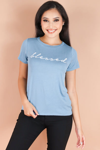 Jeans Warehouse Hawaii - S/S SCREEN - SIMPLY BLESSED TEE | By LUZ