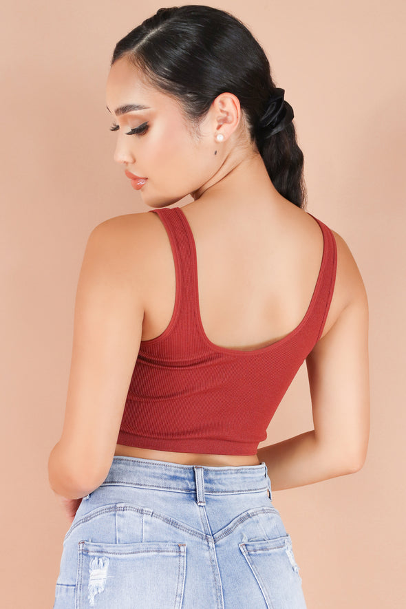 Jeans Warehouse Hawaii - TANK/TUBE SOLID BASIC - FAN CLUB TOP | By SHINE IMPORTS /BOZZOLO