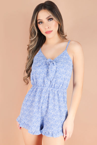Jeans Warehouse Hawaii - PRINT CASUAL ROMPERS - STRESS FREE ROMPER | By TIMING