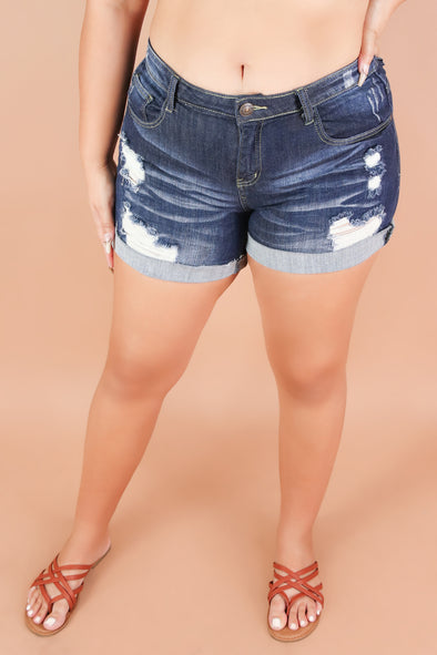Jeans Warehouse Hawaii - PLUS Denim Shorts - SANDY BEACH SHORTS | By MACHINE JEANS
