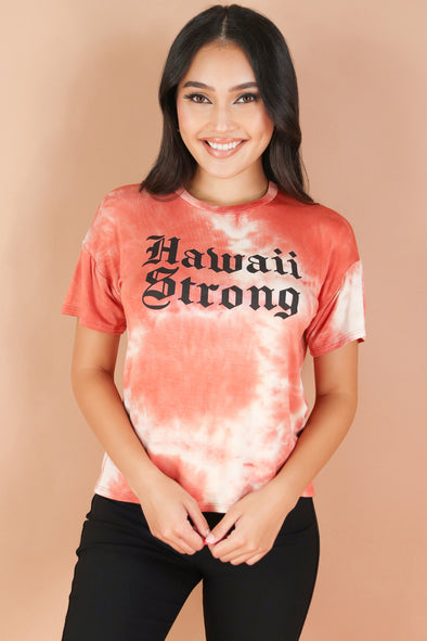 Jeans Warehouse Hawaii - S/S SCREEN - HAWAII STRONG TEE | By ROCK & ROSE COUTURE