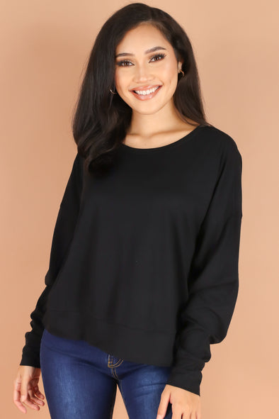 Jeans Warehouse Hawaii - LS CASUAL SOLID - SOMETHING CASUAL TOP | By HEART & HIPS