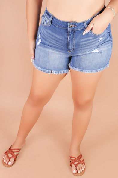 Jeans Warehouse Hawaii - PLUS Denim Shorts - GAME CHANGER SHORTS | By WAX JEAN