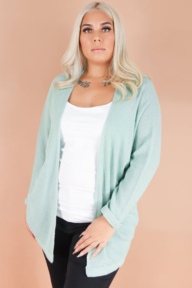 Jeans Warehouse Hawaii - PLUS SOLID LONG SLV CARDIGANS - MIDDAY SUN CARDIGAN | By BE COOL
