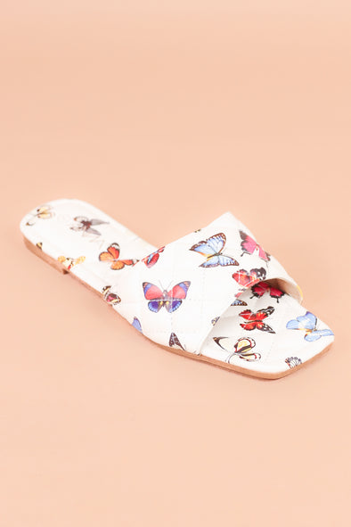 Jeans Warehouse Hawaii - FLATS SLIP ON - YOU GIVE ME BUTTERFLIES SANDAL | By DND FASHION INC.