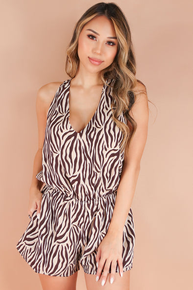 Jeans Warehouse Hawaii - PRINT CASUAL ROMPERS - PLAY THE WILDCARD ROMPER | By BLUE BLUSH