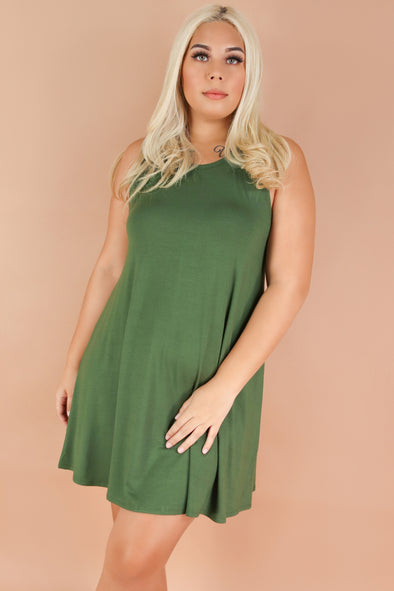 Jeans Warehouse Hawaii - PLUS PLUS SOLID KNIT DRESSES - TOO DIVINE DRESS | By J&G INTERNATIONAL