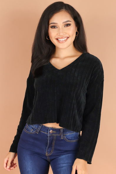 Jeans Warehouse Hawaii - SOLID LONG SLV TOPS - COZY SEASON SWEATER | By HEART & HIPS