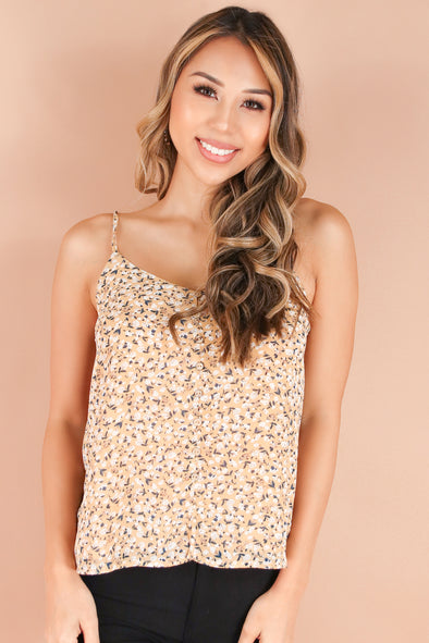 Jeans Warehouse Hawaii - TANK PRINT WOVEN DRESSY TOPS - ON THE DAILY TOP | By PAPERMOON/ B_ENVIED