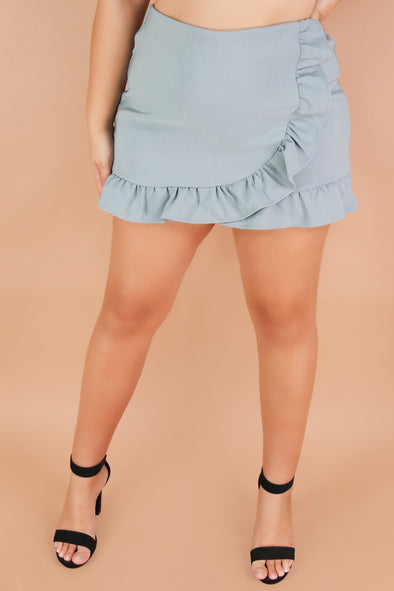 Jeans Warehouse Hawaii - PLUS Knit Short Skirts - HEART OF GOLD SKORT | By TALENT