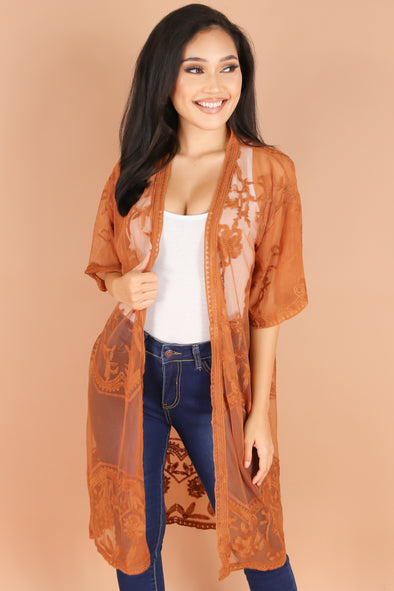 Jeans Warehouse Hawaii - S/S SOLID WOVEN DRESSY TOPS - SIMPLY YOU DUSTER CARDIGAN | By I&I WHOLESALES CORP