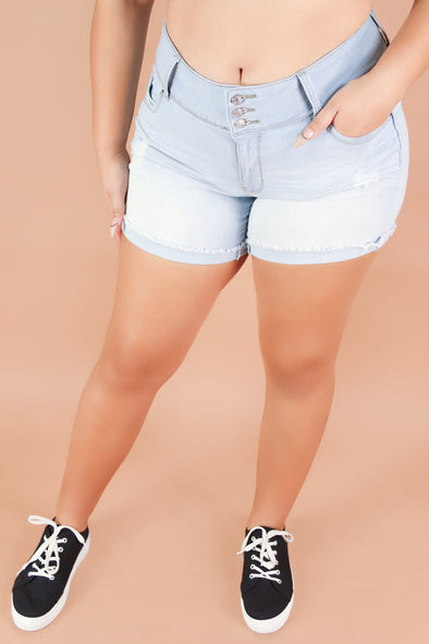Jeans Warehouse Hawaii - PLUS Denim Shorts - WAIMANALO BEACH SHORTS | By YMI JEANS