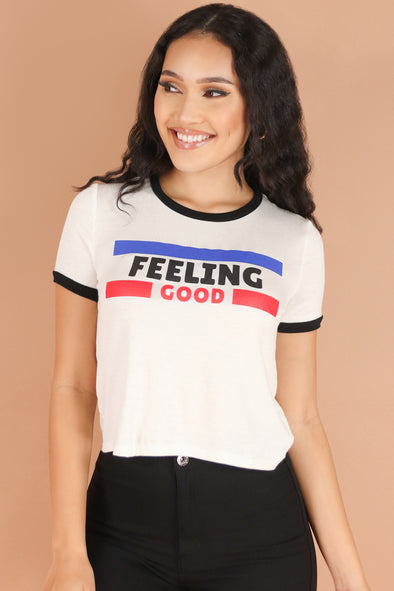 Jeans Warehouse Hawaii - S/S SCREEN - FEELING GOOD TOP | By G MINI