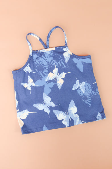 Jeans Warehouse Hawaii - S/L PRINT TOP 7-16 - BUTTERFLY GIRL TOP | 7-16 | By LUZ