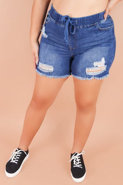 Jeans Warehouse Hawaii - PLUS Denim Shorts - HEARTS OUT SHORTS | By YMI JEANS