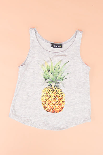 Jeans Warehouse Hawaii - S/L PRINT TOPS 4-6X - PINEAPPLE TANK | 4-6X | By LUZ