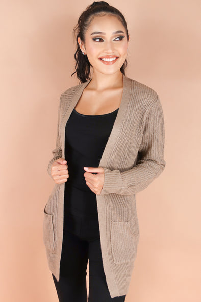 Jeans Warehouse Hawaii - SOLID LONG SLV CARDIGANS - COVER ME CARDIGAN | By AMBIANCE APPAREL