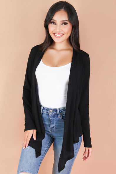 Jeans Warehouse Hawaii - SOLID LONG SLV CARDIGANS - HAD IT ALL CARDIGAN | By AMBIANCE APPAREL