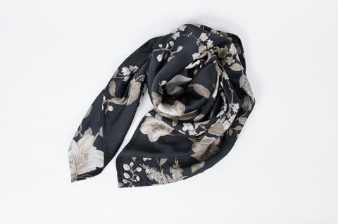 Floral Scarf - Taupe