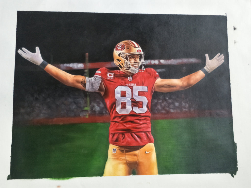 George Kittle 18x24 Inch Oil Painting